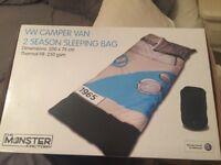 Vw camper van print sleeping bag