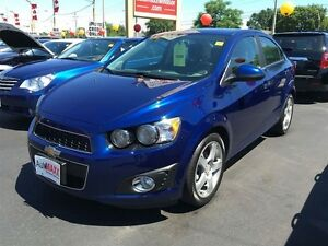 2014 CHEVROLET SONIC LTZ - LEATHER HEATED SEATS, REAR VIEW CAMER