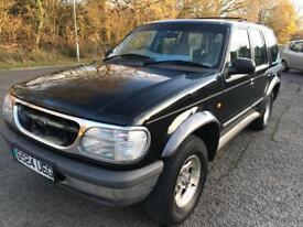 Ford Explorer 4.0 v6 auto estate 1998, 4x4 Black, leather, 132k s/h, g/c, mot April 2018