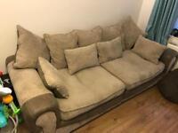 Down sofa and love seat