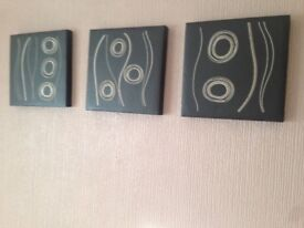 Leather canvas set of 3, excellent condition, £15
