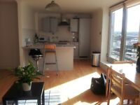 Fully furnished 2 bed flat with sunny balcony in Glasgow city centre