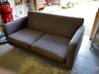 John Lewis Grey Mid Century Style 2 Seater Sofa