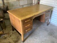 Varnished wooden desk