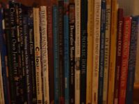 various books for sale in M19 including food, craft, cooking