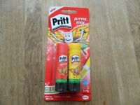 Pritt Glitter Stick. 2x 20g Red & Yellow Sticks. 3 pounds for 1, or 5 for 10 pounds