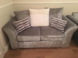 Crushed velvet sofas 3&2 from very