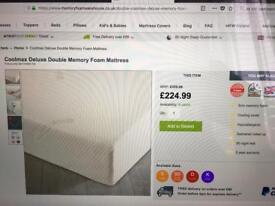 COOLMAX. Deluxe . Memory foam double bed mattress