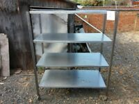 Stainless steel shelving for sale - catering / domestic, solid, good quality, central Northampton