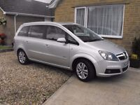 vauxhall zafira 2007 design high spec low millage 11 months m.o.t