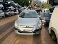 2002 Peugeot 307 LX 5dr 1.4 Petrol Silver BREAKING FOR SPARES