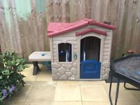 Little tikes play house with table and stools