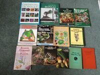 14 gardening books for sale