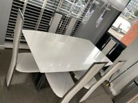 6 Seat Marble Dining Table and 6 Chairs