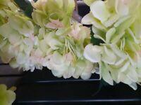 Artificial Hydrangeas x 15 Green Pink