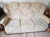 3 piece suite - 2 arm chairs and 3 seater sofa