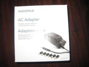 Insignia 7 Tip AC Adaptor / Charger. Universal. Multiple Voltage. Jadoo TV / Acer / RCA Tablet / Android TV Box. NEW