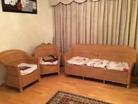 Conservatory cane furniture. Original from Delhi, India. Very good condition. No delivery possible.
