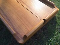 MARINE TEAK FIDDLED COCKPIT TABLE. Immaculate Condition, Boat table