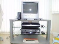 PORTABLE TV WITH BUILT IN DVD PLAYER, VIDEO RECORDER,SKY BOX, SKY HUB ALL IN A HOUSING UNIT.