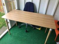 Ikea desk HILVA BAMBOO colour