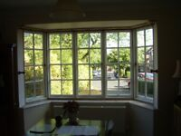 3 former opening Bournville Village Trust Casement Windows, Glazed and Painted Gloss White