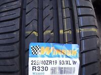 matching pair BRAND NEW 225 x 40 x 19 winruns £110 SUP & FITD OPN also 265 30 19s & 235 35 19s £55