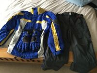 Full Ski outfit - jacket, salopets, gloves
