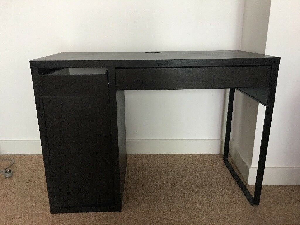 Student Desk Ikea Dark Wood Finish 105x50 Cm