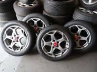 "16"" & 17"" TRANSIT CONNECT ALLOYS & TYRES BOTH SETS MINT COND JUST BEEN REFURBD GOOD TYRES £250"