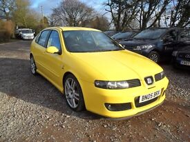 "2005 SEAT LEON CUPRA R 1.8T-NEW MOT-101K 9 STAMPS--6'SPEED-BREMBO BRAKES-18""ALLOYS"