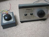 Two 1960s H & M power control units for electric model railway layouts