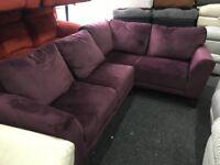 NEW / EX DISPLAY John Lewis Cargo Velvet Corner Sofa