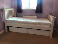 Julian Bowen single bed frame, plus bedside cabinet and underbed storage