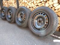Four Continental TS850 Tyres & Steel Wheels