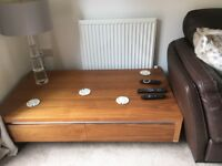Beautiful Dwell Walnut Coffee table with drawers