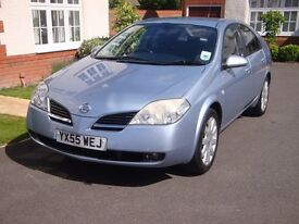 2005 (55) Nissan Primera SX 1.8 Petrol – 64K, 2nd Keeper, Service History, Immaculate - Avail. July