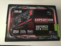 Asus GTX 1050 graphics card.