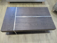 Brand New Ex display Post Industrial solid Elm and chrome coffee table