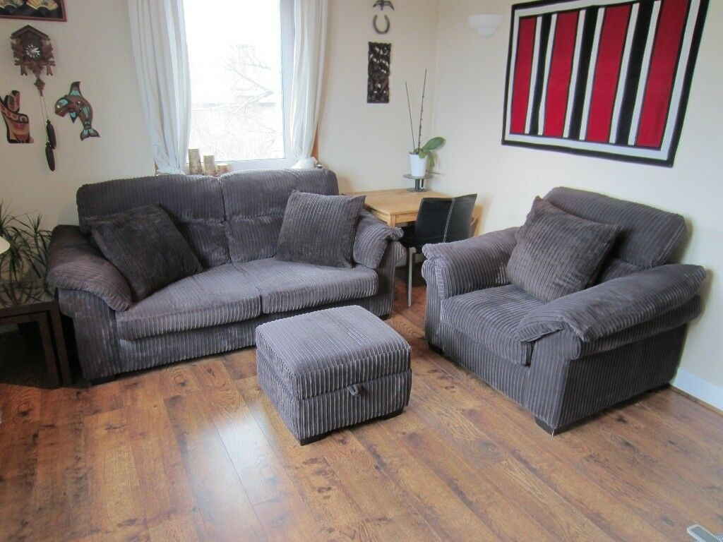 Dfs Sofa Set 3 Seater 1 Seater Stool 3 Pillows