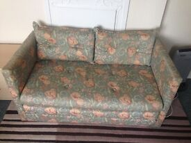 Floral sofa bed, used but good condition