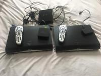 Two sky+ HD box's with remotes and all accessories need