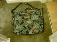 BLACK/TURQUOISE FLORAL DRESS/SUIT CARRIER -NEW-