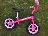 Chico pink arrow balance bike