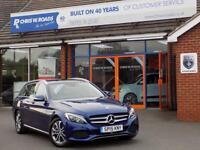 MERCEDES-BENZ C CLASS C300 BLUETEC HYBRID SPORT PREMIUM 5dr AUTO 204 BHP * PAN ROOF * (blue) 2015