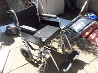 FOLDING WHEELCHAIR IN GOOD CONDITION LIGHTWEIGHT WITH SEAT CUSHION CAN DELIVER