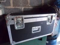 A Large Black and Silver Flight Case