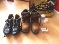 Puma football boots 10 worn once and skecher boots size 10 brand new with receipt