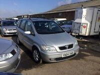 2004 VAUXHALL ZAFIRA DIESEL 7 SEATER FAMILY SALOON IN NICE CONDITION IN AND OUT GOOD DRIVER ANYTRIAL