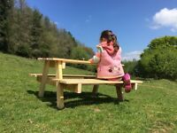 Wooden Children's Picnic Bench Sold by LJE